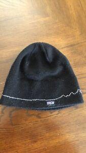 Patagonia Knit Wool Blend Beanie Hat-unisex Black