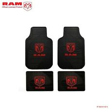 New 4pc Set Red Dodge RAM Factory Style Car Truck Heavy Duty Rubber Floor Mats