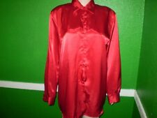 BENTLEY LIQUID SATIN glossy shiny SHIRT TOP DRESS SUIT BLOUSE M 8 10 pvt auc