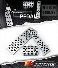 VW JETTA GOLF 5 6 MK5 MK6 GTI Passat B6 B7 AT ALUMINUM PEDAL SET + FOOTREST peg6