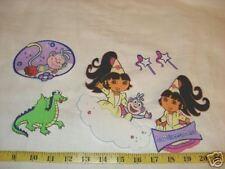 6pc Dora Princess Fairytale Fabric Applique Iron On Ons