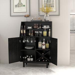 Bar Cabinet Wine Storage Liquor Display Buffet Dining Sideboard Home Kitchen