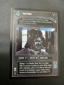 Star wars CCG swccg Lord Vader Death Star 2 Black Bordered