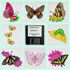 Butterflies #2 Embroidery Designs Floppy Disk for Husqvarna Viking  Designer 1