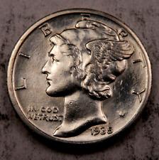 1935-S Mercury Dime // Choice BU // 90% Silver (D1061)