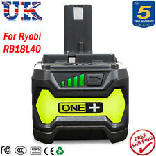 For 18V Ryobi One+ RB18L40 Lithium-ion Battery RB18L50 P108 P104 P105 P107 4.0Ah