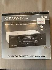 Vintage Crown Japan Cz-110V Stereo Car Cassette Player Am/Fm New In Box! Nos!