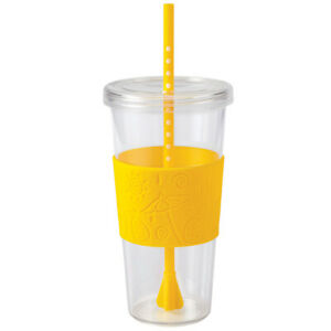 Copco Sierra On The Beach ToGo Cup Insulated Tumbler Straw Lid Clear Lemon 24 Oz