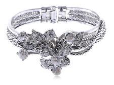 Antiguo Aleación Plata Mariposa Tejido Trenza inspirado Pulsera elegante brazalete