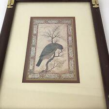 Vintage Windsor Art Products Oriental Birds Framed Print Etched brass trim