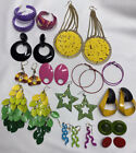 Vintage To Now Big And Bold Enamel Pierced Earring Lot