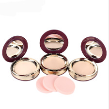 Face Foundation Powder Matte Makeup Pressed Translucent Natural Beauty With Puff