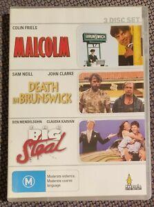MALCOLM/DEATH IN BRUNSWICK/THE BIG STEAL Oz Comedy Action UMBRELLA 3xDVD R0