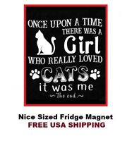 604 - Cute Cats Love Saying Refrigerator Fridge Magnet
