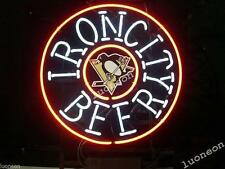 New NHL Pittsburgh Penguins Iron City Beer Bar Real Neon Light Sign FAST SHIP