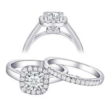 Engagement Ring Set For Women Sz 10 Princess Aaa Cz 925 Sterling Silver Wedding