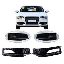 x2 L+R Nebelscheinwerfer Abdeckung Blende Gitter Honeycomb Für AUDI A4 S-Line S4