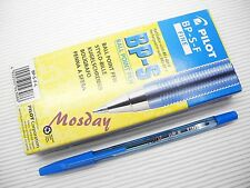 12pcs Pilot BP-S 0.7mm Fine Oil Based Ball Point Pen, BLUE