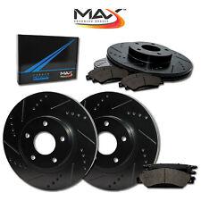 2014 2015 Fit Kia Forte (See Desc) Black Slot Drill Rotors Metallic Pads F+R