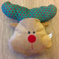 RUDOLPH THE RED NOSE REINDEER PILLOW CHRISTMAS HOLIDAY PLUSH STUFFED ANIMAL TOY