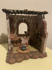 Fontanini Nativity Village Dining Room 3pc Building Ret Htf Mint In Original Box