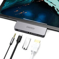 USB C Hub 4K 60Hz HDMI Adapter Für iPad Pro 2018/19/20/Samsung CHOETECH 4 in 1