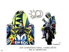 Art card 2018 Yamaha YZR-M1 #46 Valentino Rossi door JBL-drawings (OE)
