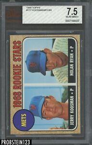 "1968 Topps #177 Mets Rookie Stars w/ Nolan Ryan RC HOF BVG 7.5 "" SHARP CORNERS """