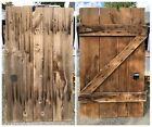 """Antique Primitive Wood Barn Door Early 1900s Measures 70""""x42"""" W/ Orig Hardware"""