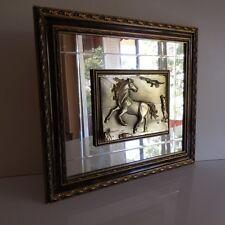 Espejo Cuadro Caballo Manualidades Italia Vintage Arte Deco Diseño Pn Francia