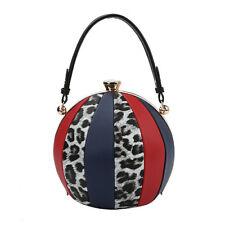 L0180 Ball Shape Giraffe Print Color Block Handbag
