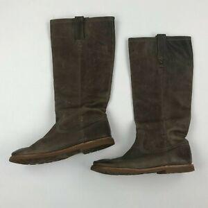 FRYE Women Celia X Stitch Brown Knee-High Boot sz 10B