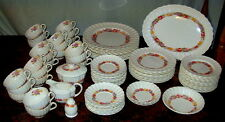 "Lovely Antique 88 Pc. Spode Copeland England ""Rose Briar"" Pattern China Set"