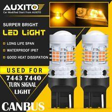 2X 7443 7444 LED Amber Yellow Blinker Turn Signal Light Bulb CANBUS Error Free A
