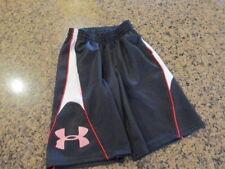 Under Armour YSM  boys girls youth Shorts black Athletic Elastic tie draw loose