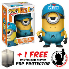 FUNKO POP VINYL DESPICABLE ME 3 I HEART GRU MEL EXCLUSIVE + FREE POP PROTECTOR