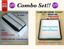 Engine & Cabin AIR FILTER for 02-04 HONDA ODYSSEY V6  AF5499 C45459 Combo Set!!