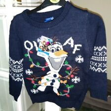 Disney Boys Jumper Olaf Frozen Age 4-5 Brand New with Tags