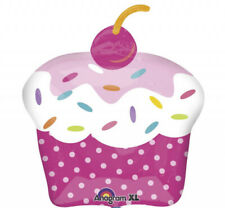 PINK CUPCAKE Super Shape Foil Balloon Birthday Decoration