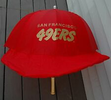 Vintage San Francisco SF 49ers Baseball Hat Helmet Umbrella Rare Montana Rice