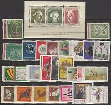 Germany Stamps #840/B626 (26) Complete Sets+(1) Ss 1961 Mint