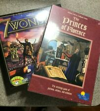 LOT of 2-Euro/Strategy Board Game NEW 'Seven 7 Wonders''The Princes of Florence'