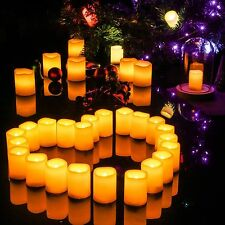 (pack of 20) 3X4 Inches Flameless Plastic Pillar Led Candle Light With Timer