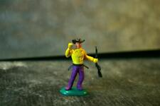CRESCENT Swoppet WW Wild West Cowboy Standing Holding Rifle Yellow Top PurpleLeg