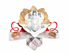 Angels Petite Christmas Pop-Up Greeting Card Second Nature 3D Pop Up Cards