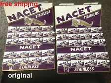 200 Gillette NACET STAINLESS Double Edge Razor Blades Made in Russia