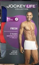 Jockey Life Collection Men's Trunk Briefs 3-Pack Microfiber Size Medium