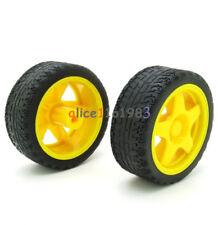 Arduino Small Smart Car Model Robot Plastic Tire Wheel 65x26mm