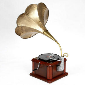 NEW Retro Phonograph Model Vintage Record Player Antique Gramophone Home Decor