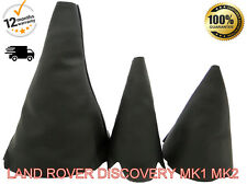 LAND ROVER DISCOVERY MK1 MK2 1989-2004 SET 3 GENUINE LEATHER GEAR GAITER